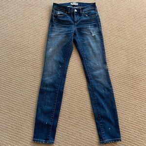 Madewell paint splatter skinny jeans